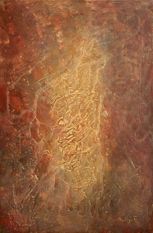 Obrazy - Prorůstající rudé strukrury
